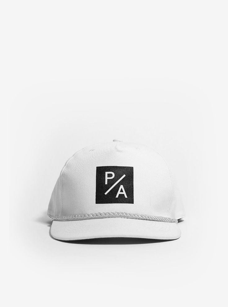 Box PA Snapback Hat in Off-White