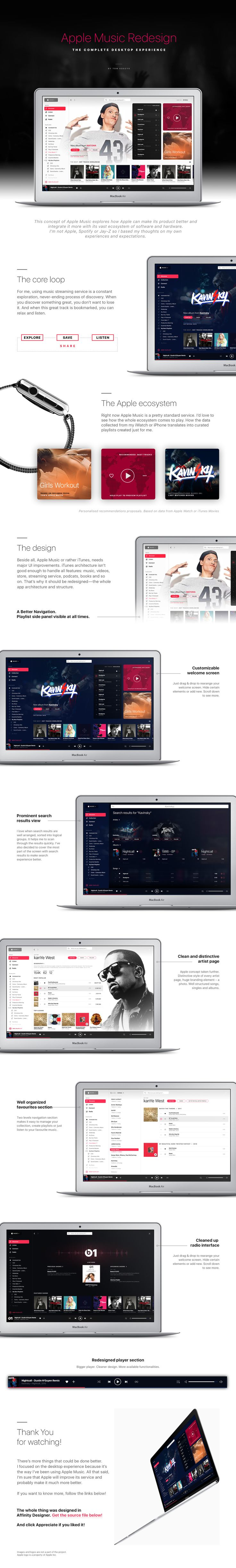 Apple Music Redesign concept on Behance