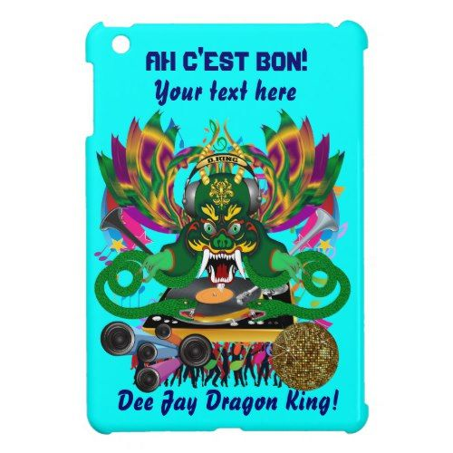 Mardi Gras D. J. Dragon King Important view hints iPad Mini Cases