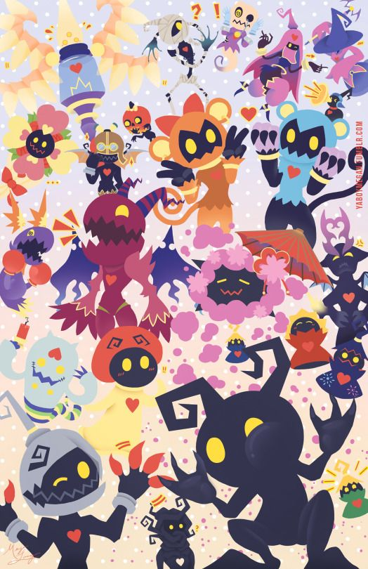 A HEARTLESS FESTIVAL ~!!! But I think it's kinda sad I can name everyone of these heartless...