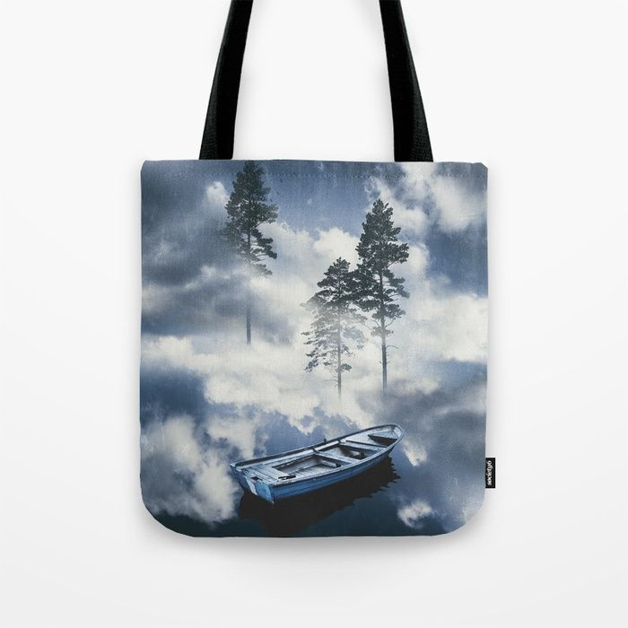 Forest sailing Tote Bag by HappyMelvin. #art #nature #photography #surreal #totebag