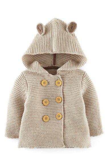Free shipping and returns on Mini Boden Knit Jacket (Baby Boys) at Nordstrom.com. Mouse ears bring playful charm to a hooded knit jacket with double-breasted button closure.