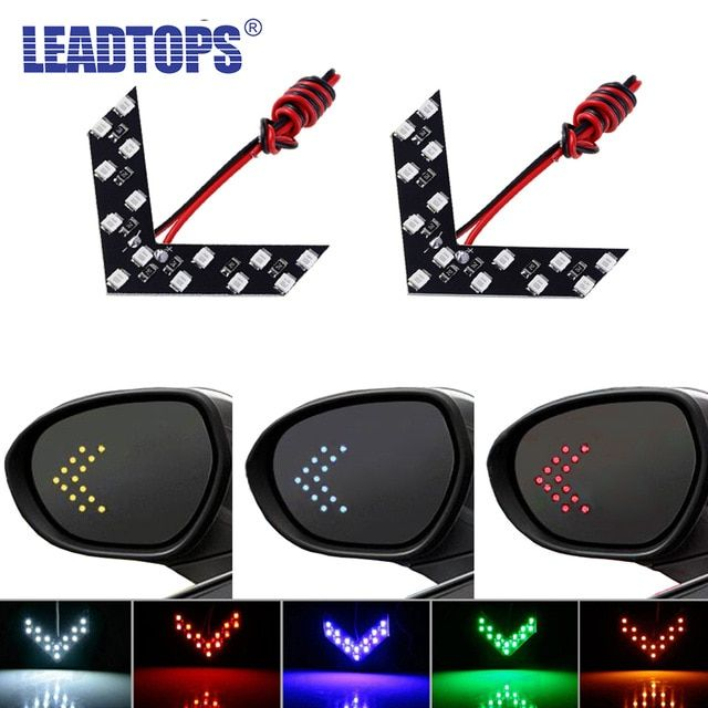 Leadtops 2 Pcs Lot 14 Smd Led Arrow Panel For Car Rear View Mirror Indicator Turn Signal Light Car Led Rearview Mirror Light Aj Review Car Rear View Mirror Rear View Mirror