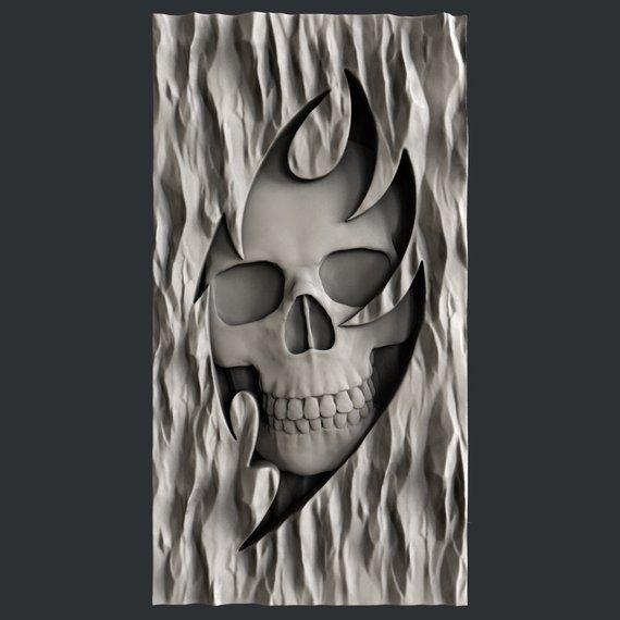 3d STL models for CNC Aspire Artcam relief skull 4 models
