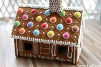 Maison en pain d'épices pour Noël
