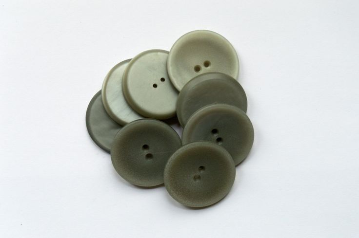 50g Large Grey Buttons by sustainableartisan on Etsy