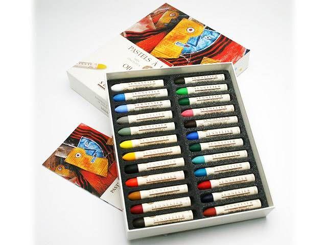 Promotions sur la Boite pastels à l'huile 24 Universels