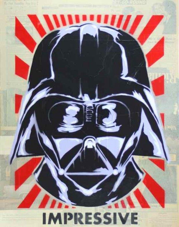 Darth Vader Stencil | Art | Pinterest