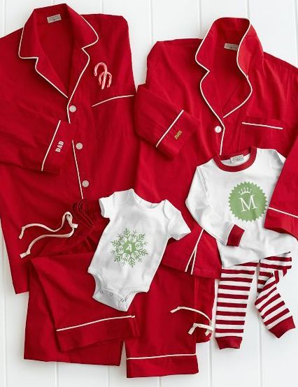 Matching pajamas for Christmas morning, i would love to do this but I don't think Matt would ever go for it