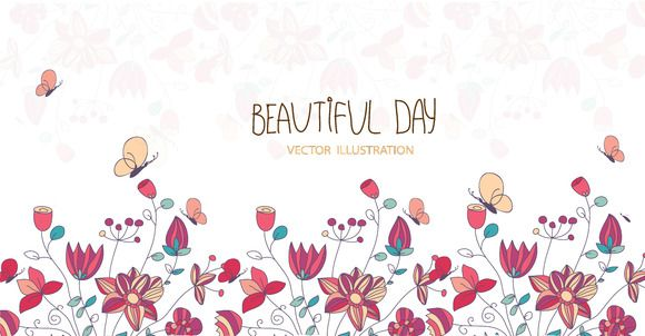 Hello spring and summer by Lesia.kabakova on @creativemarket