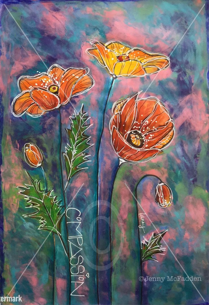 """Intuitive art """"Compassion"""" by Jenny McFadden"""