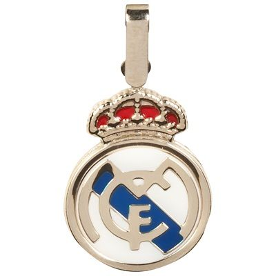 Image of Real Madrid Colour Crest Pendant - 9ct Gold