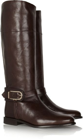 Burberry Leather Knee Boots.