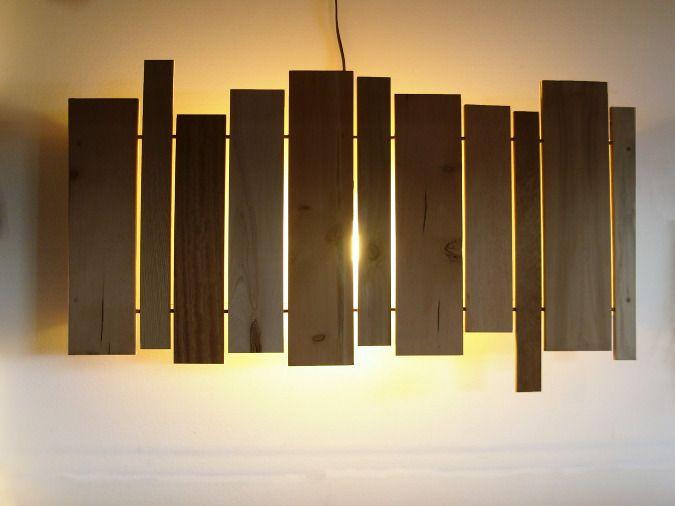 Plank light / slat sconce