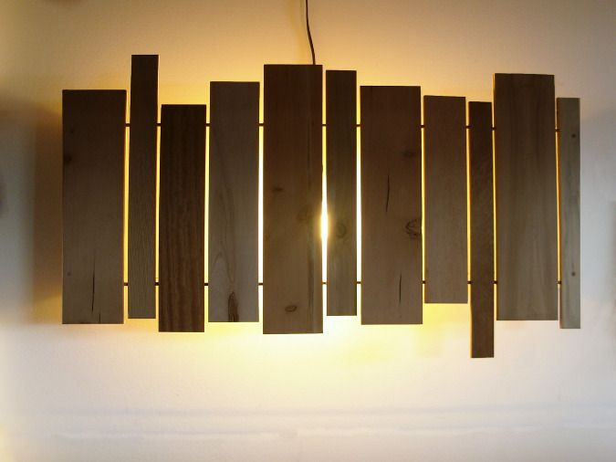 Diy Wooden Wall Lamps : Best 25+ Wood slat wall ideas on Pinterest