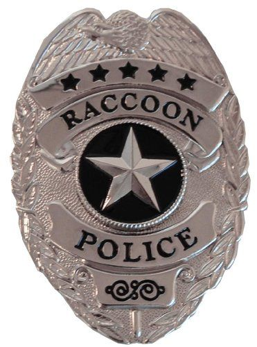 Dress Up America Pretend Play Police Badge - Resident Evil Raccoon