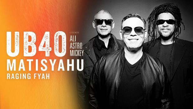 UB40, featuring legendary founders Ali Campbell, Astro and Mickey Virtue with special guests Matisyahu and Raging Fyah will return to the Starlight Theater stage as part of the band's U.S. Summer Tour at 7:30 p.m., Thursday, July 27, at Pala Casino Spa & Resort. UB40's performance last August at Pala was a sellout.