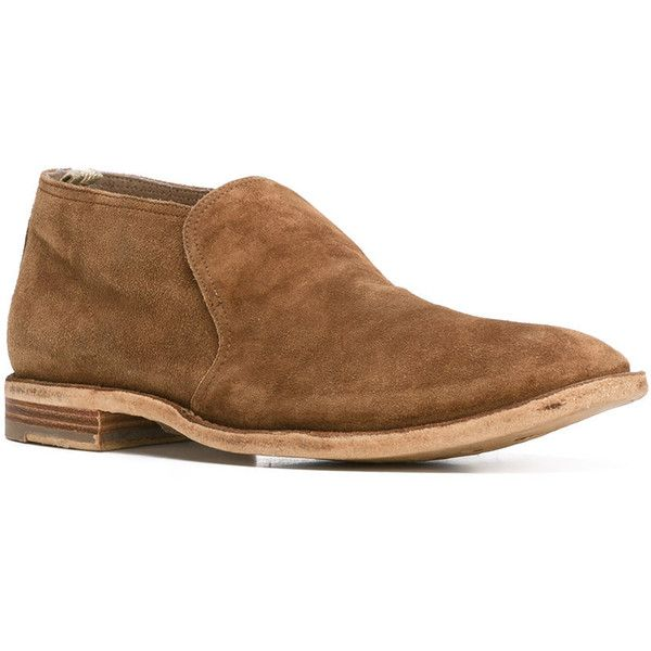 Officine Creative classic loafers ($525) ❤ liked on Polyvore featuring men's fashion, men's shoes, men's loafers, mens loafer shoes, mens leather loafer shoes, mens brown loafer shoes, mens brown shoes and mens brown leather shoes
