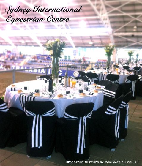 Black White Stripe Decorating Supplies Hired From Www