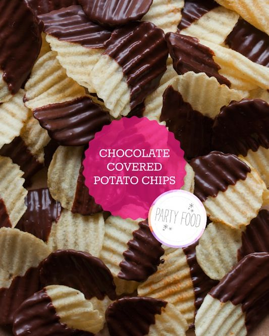 Heaven: Potatoes Chips, Chocolates Chips, Sweet, Chocolate Covered, Chocolates Covers, Recipes, Yummy, Covers Potatoes, Parties Food