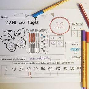 Wir arbeiten nun täglich mit der Hundertertafel Die Kinder dürfen sich am Anfang der Woche eine Zahl des Tages aussuchen und als Rechenfrühstück so erarbeiten! Das lieben sie gesehen bei rainbowskycreations auf Englisch und selbst auf Deutsch gestaltet.