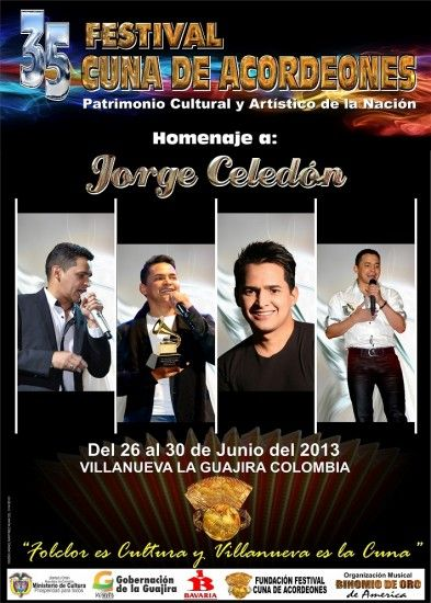 Festival Cuna de Acordeones, Villanueva, La Guajira, Colombia 2013