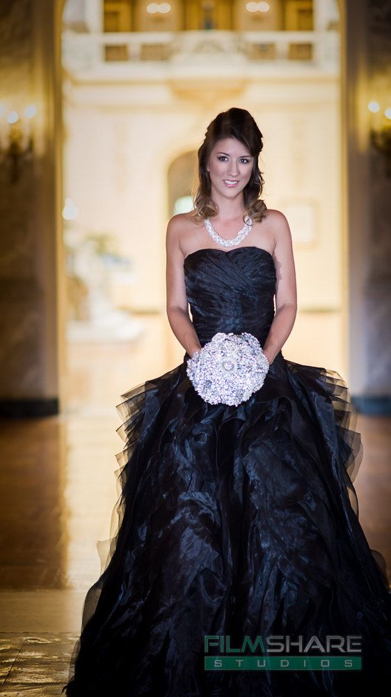 Gorgeous Black Wedding Dress READY TO SHIP by WeddingDressFantasy #gothicweddingdress