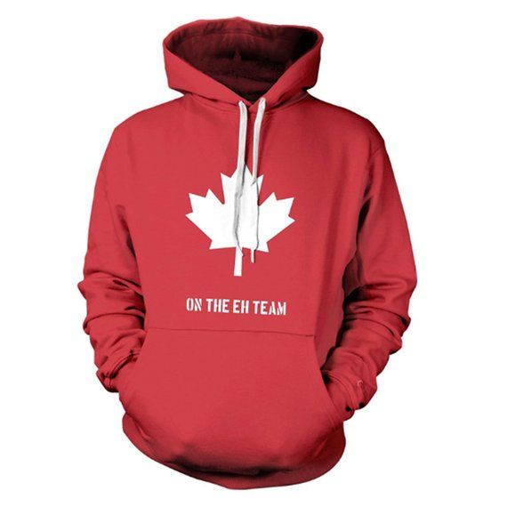 Canada Hockey Hoodie On The Eh Team Hoodie Red Hockey Top Etsy In 2020 Novelty Sweater Team Hoodies Hoodies