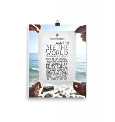 """Poster with a Travel Quote on """"I want to See the World"""" - Click on the Photo to Get it."""