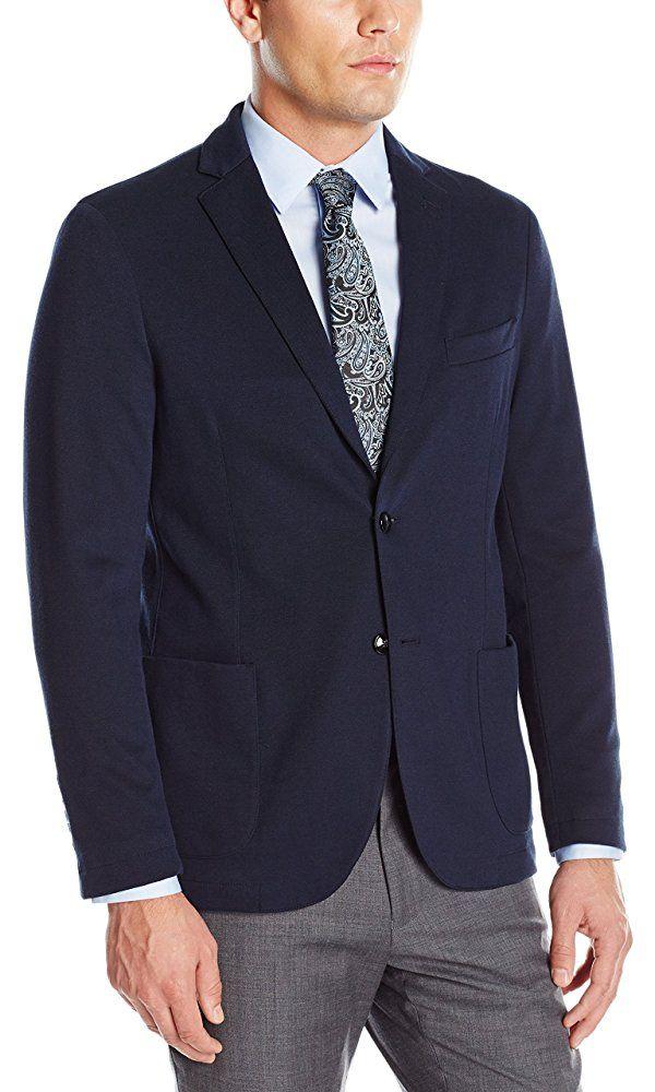 Stone Rose Men's Textured Knit Blazer, Navy, X-Large Best Price