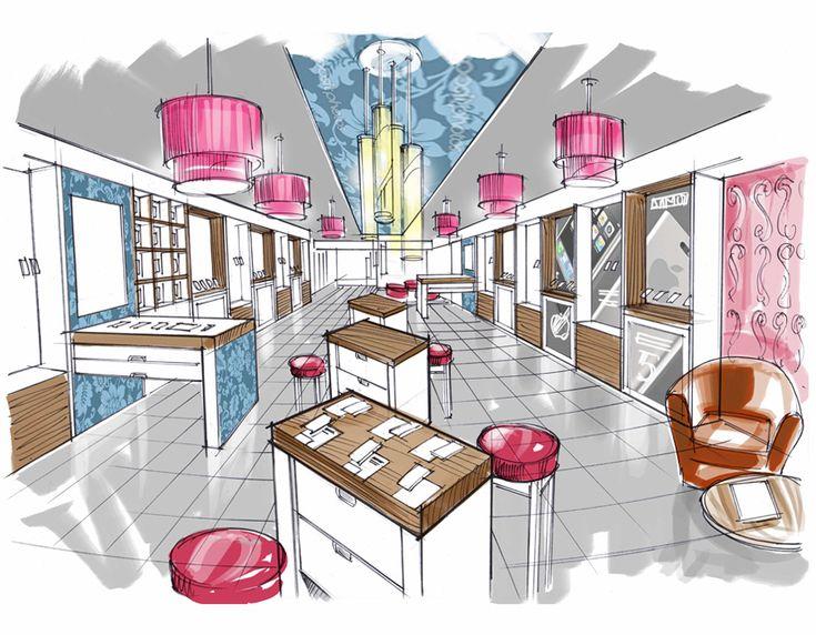 Best Interior Design Concept Rendering Images On Pinterest