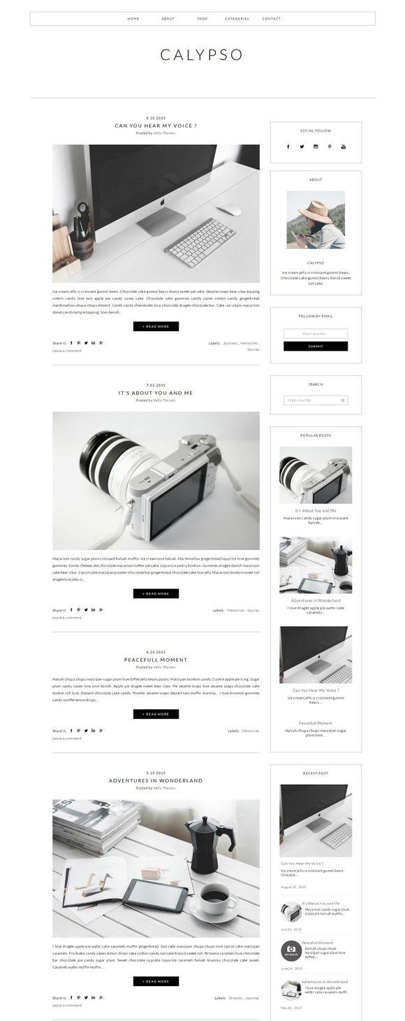 52 best Feminine Blogger templates images on Pinterest | Blogger ...