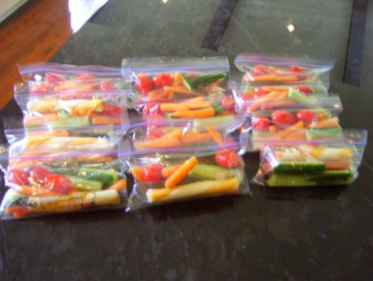 Snacks for school?  baggies with veggies and a cheese stick for protein. I have teen girls, they love this.