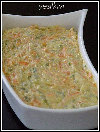 havuçlu kabaklı salata