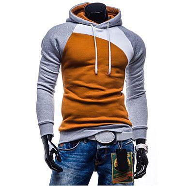 Ανδρικά+Σετ+Activewear+Καθημερινό+/+Γραφείο+/+Επίσημο+/+Αθλητικό+/+Μεγάλα+Μεγέθη+Μακρυμάνικο+Καρό+/+Απλό+Μείγμα+Βαμβακιού+–+EUR+€+12.73