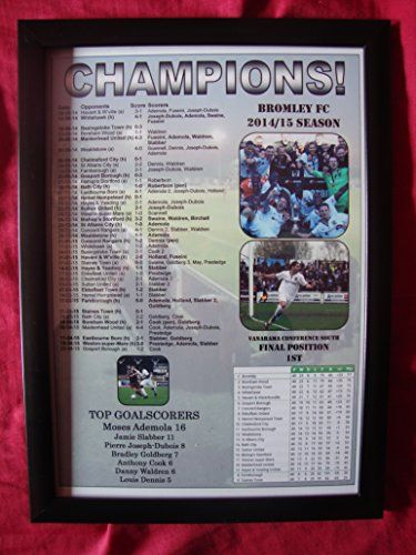Bromley FC Vanarama Conference South champions 2015 - framed print Lilywhite Multimedia http://www.amazon.co.uk/dp/B00XXTDL2E/ref=cm_sw_r_pi_dp_cpImwb1X2E3CH