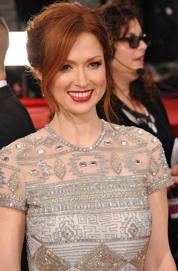 """Pregnant actress Ellie Kemper describes morning sickness as """"a constant hangover."""" - See more about her pregnancy here."""