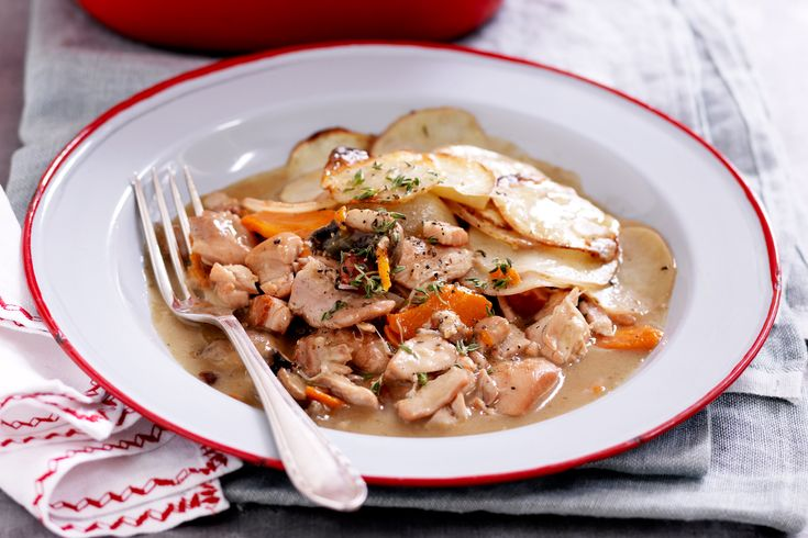 Tuck into a hearty potato topped chicken pie and keep the winter blues away.