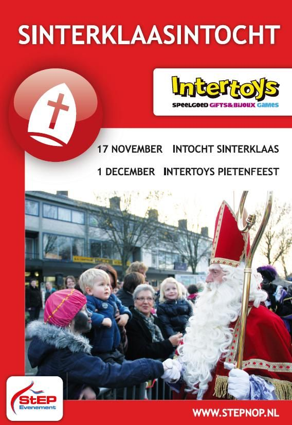 SINTERKLAAS INTOCHT 17nov. INTERTOYS PIETENFEEST 1dec. StEP Evenement. #Emmeloord www.StEPNOP.nl