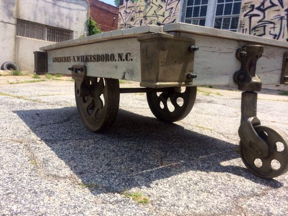 Lineberry Industrial Cart Coffee Table By Warehouse782 On Etsy, $1100.00