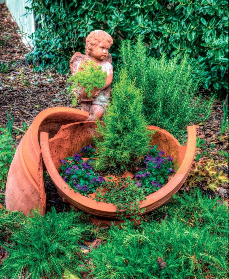 Incredible Broken Pot Ideas Recycle Your Garden: 133 Best Images About Broken Clay Pot Garden On Pinterest