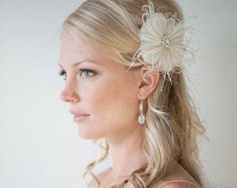 Bruids Fascinator bruiloft hoofd stuk Feather Fascinator