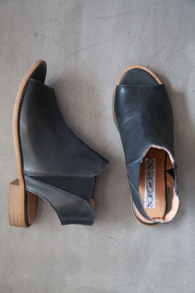 The Spring Sierra Pull On Sandal in Black