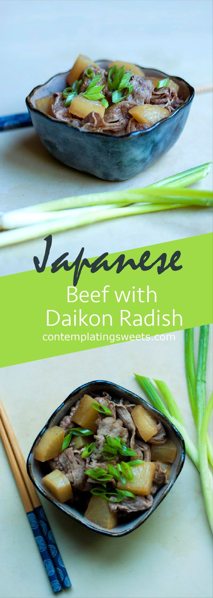 Beef with Daikon Radish- A simple weeknight dinner with classic Japanese flavor.