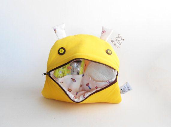 Stroller Nappy Changing Bag  Zé Nappie-glutton  funny by Zezling