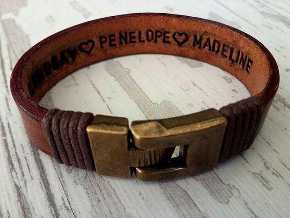 Men's Personalized BraceletMen's Leather Bracelet