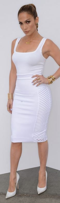 Jlo white dress turquoise