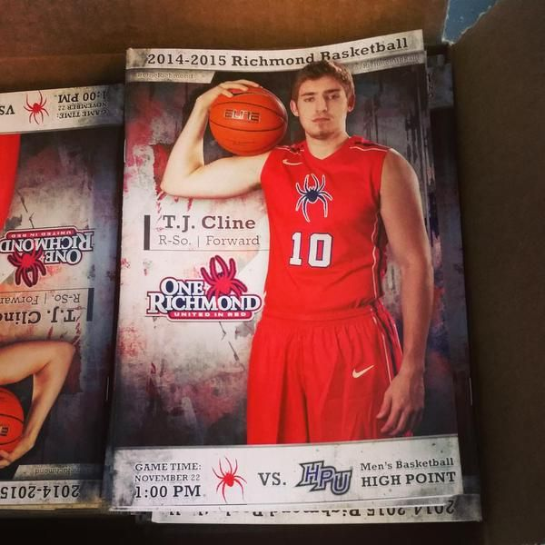 Richmond Basketball Richmond, VA    T.J. Cline is featured on tomorrow's game programs. Come to the game at 1 pm for your copy! #OneRichmond
