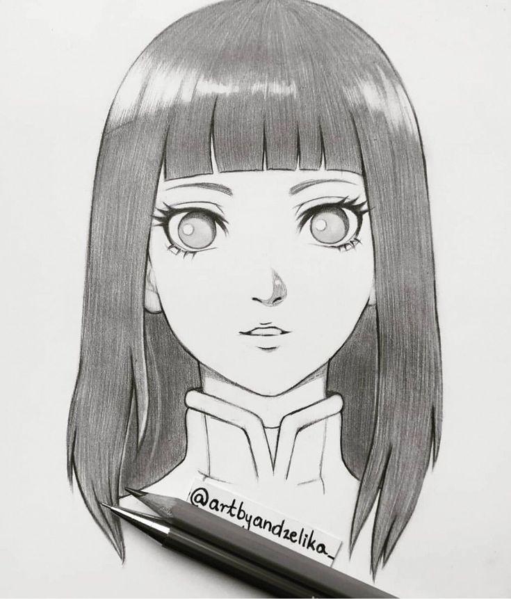Хината хьюга картинки карандашом
