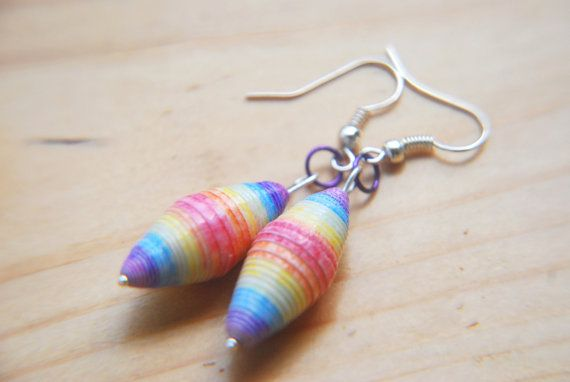 Hey, I found this really awesome Etsy listing at https://www.etsy.com/listing/194682581/upcycled-paper-bead-earrings-bead